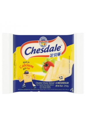 CHESDALE CHDDR CHEESE 12S 250G