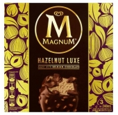 WALLS MAGNUM HAZELNUT LUXE MADE WITH BELGIAN CHOCOLATE 3PCS PER PACK 240ML